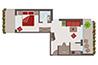 Skizze Appartement Nr. 2 (Hirzer)